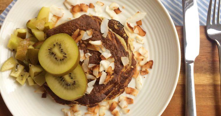 Kiwi- banaan pancakes