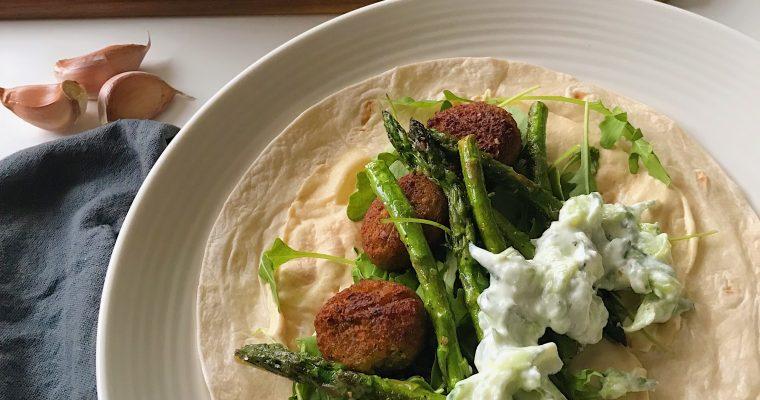 Wraps met falafel en tzatziki