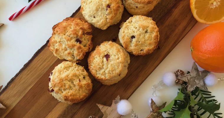 Kerst scones: cranberry – sinaasappel