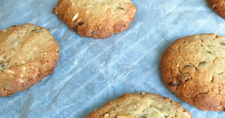 Chocolate Chip cookies met hazelnootmeel