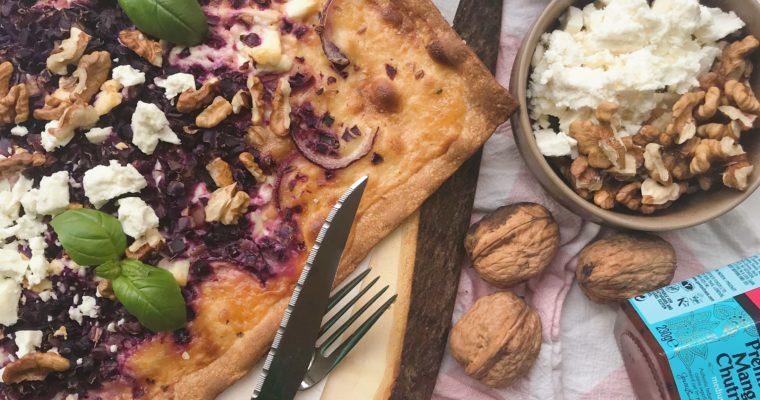 Foodblogswap: Rode kool flammkuchen