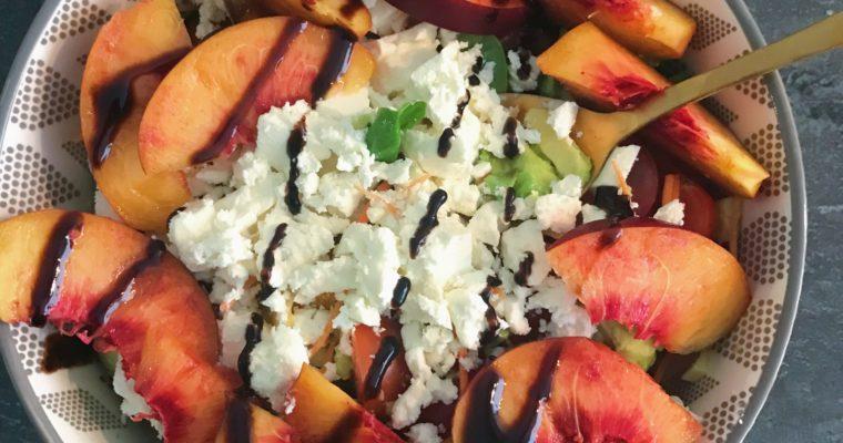 Nectarine salade met feta