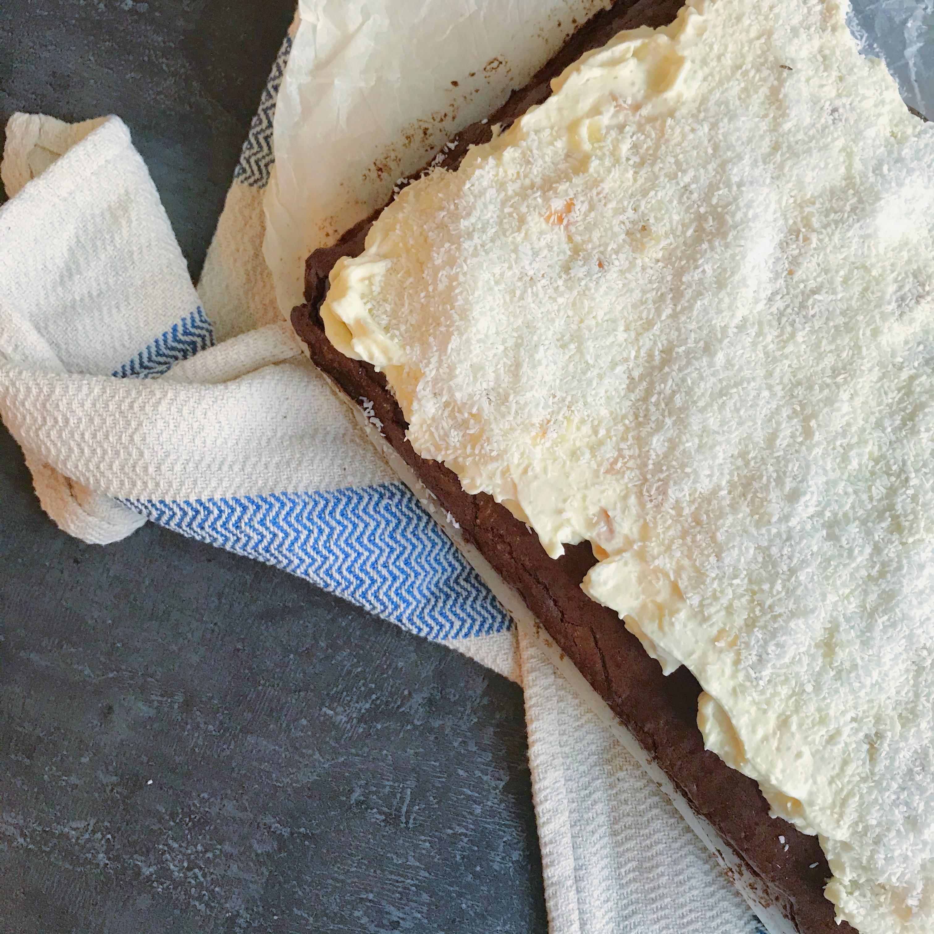 Brownie met kokos (Ferrero Raffaello stijl)